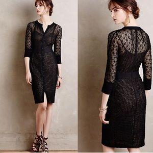 Anthropologie Byron lars Mona black sheath dress